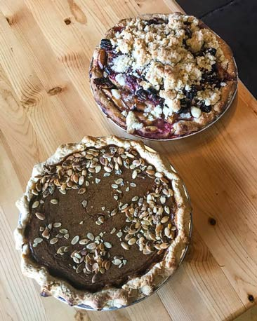 Pies at Wild Plum Cafe