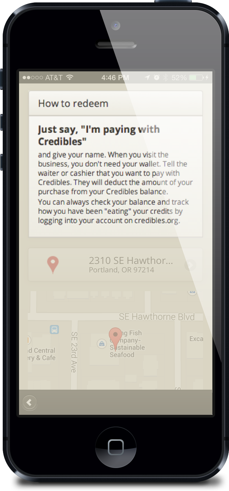 Credibles app for customers